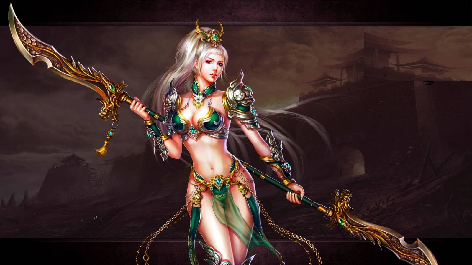 Hd fantasy warrior sexy girl images anime pretty wives